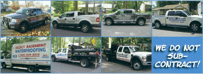 Trucks About Us Select Basement Waterproofing