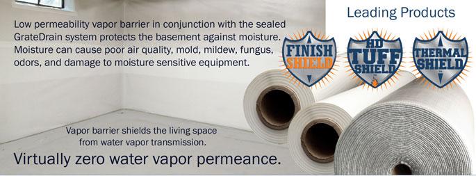 vaporbarrier overview Vapor Barriers Select Basement Waterproofing