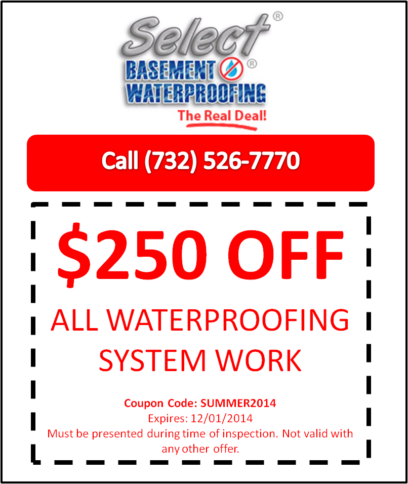 Select Basement Waterproofing Summer Coupon