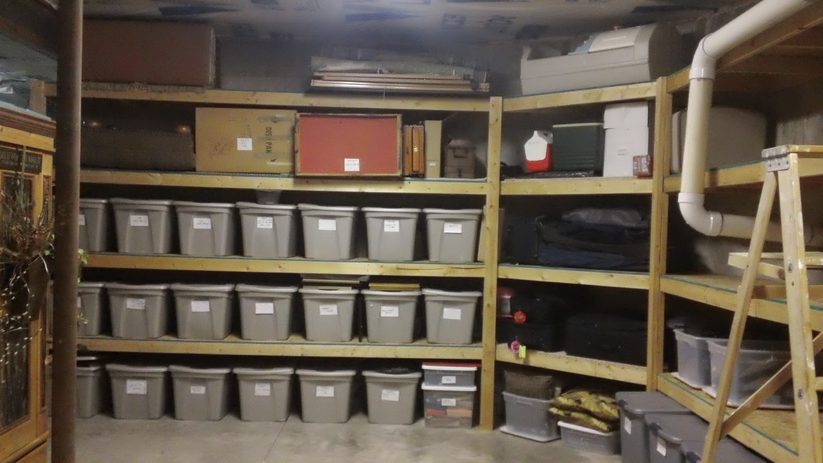 Creative ideas for basement storage in trenton nj for Basement storage ideas