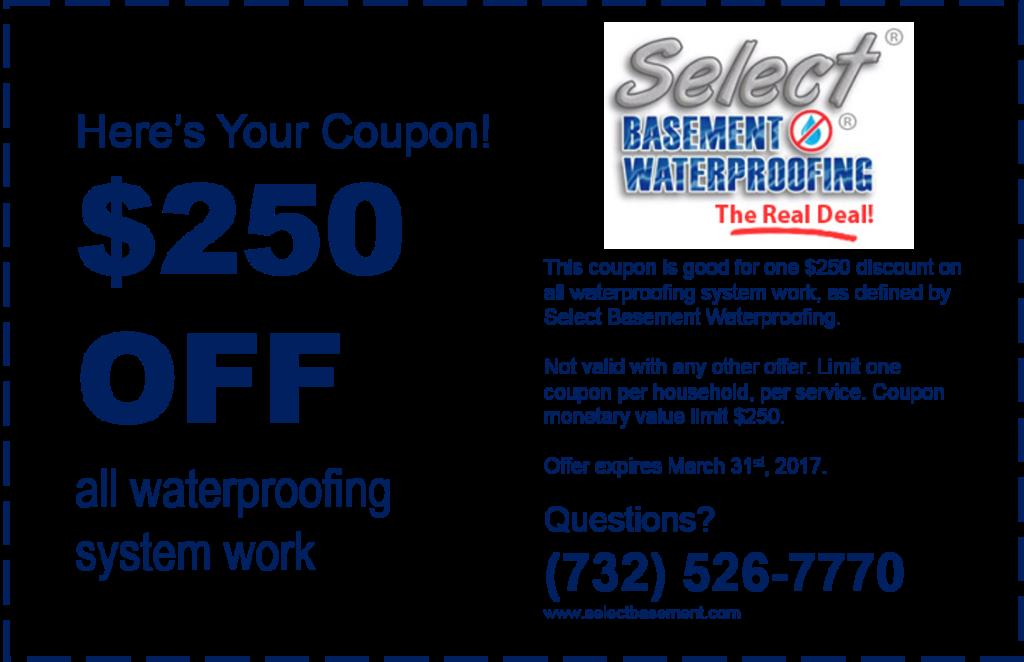 coupon select basement waterproofing new jersey 07751