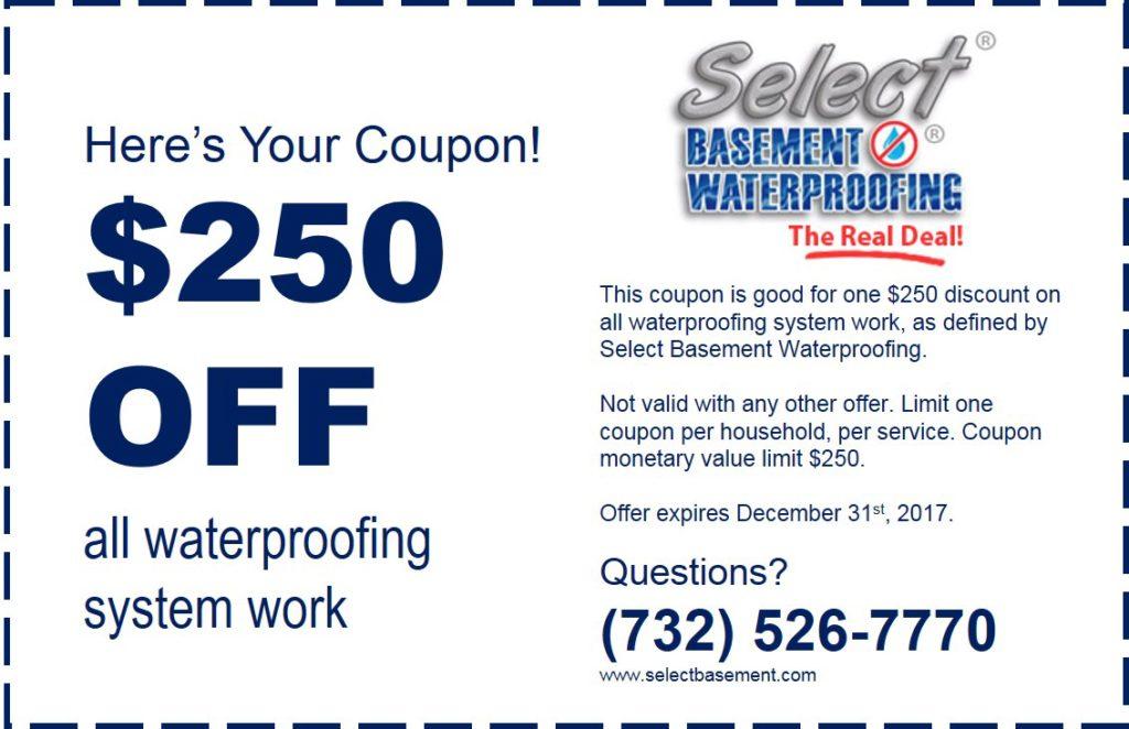 basement waterproofing new jersey coupon 3 31 17 1024x662 Coupon Select Basement Waterproofing