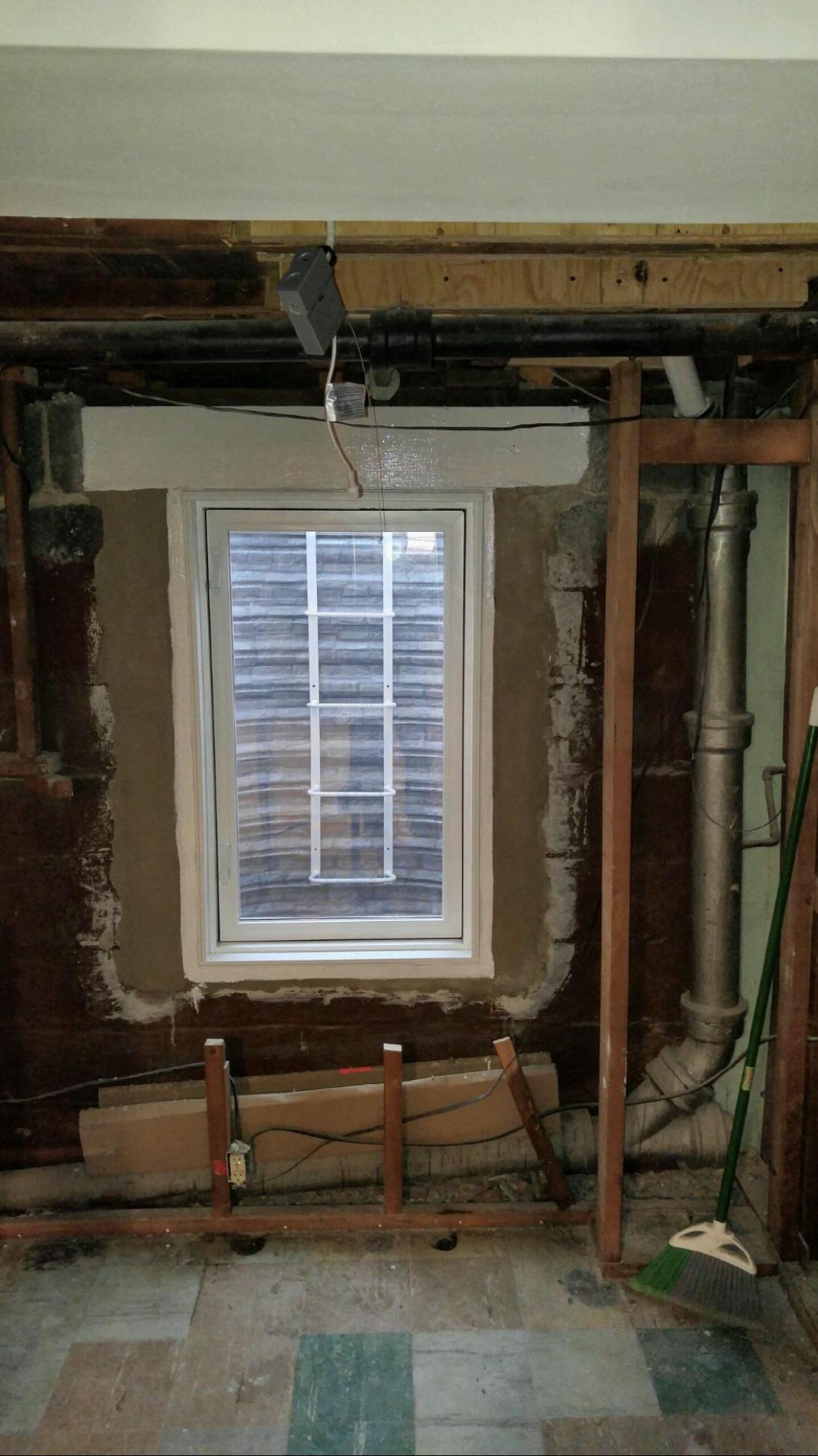 Lighting Basement Washroom Stairs: Egress Windows