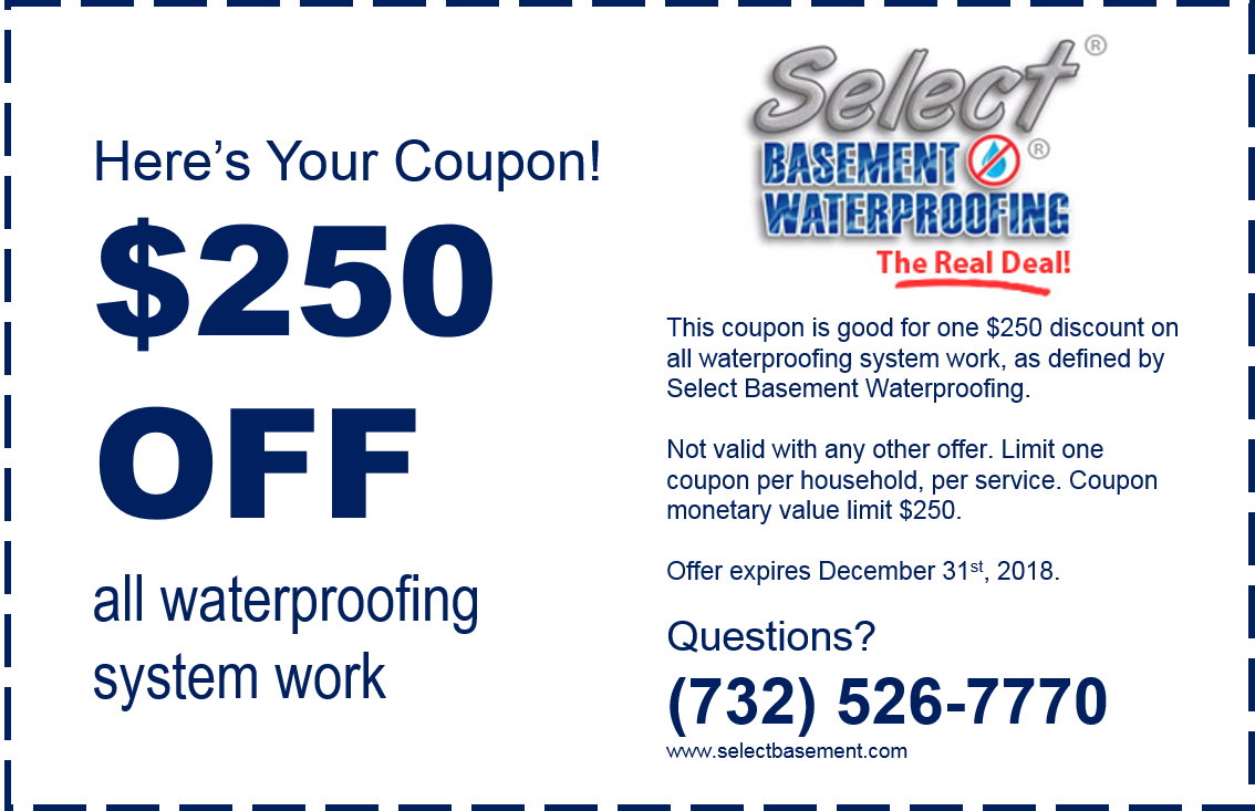 %name Coupon Select Basement Waterproofing